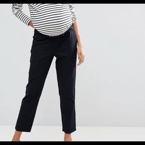 Maternity Twill Pants in Navy from ASOS